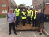 Councillor & Rhos Estates Office Environmental Clean Up in Rhos